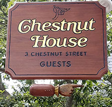 Chestnut House sign